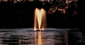 kasco lighted pond fountain
